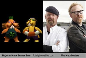 Majoras Mask Beaver Bros Totally Looks Like The Mythbusters