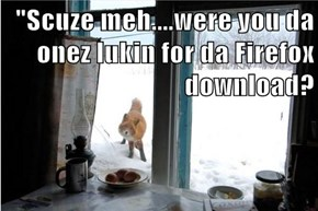 """Scuze meh....were you da onez lukin for da Firefox download?"