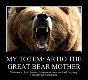 MY TOTEM: ARTIO THE GREAT BEAR MOTHER