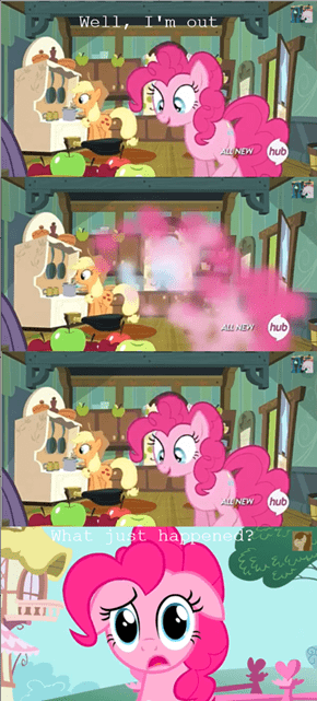 Fourth wall breaks Pinkie