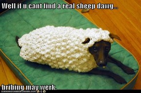 Well if u cant find a real sheep dawg...  bribing may werk.