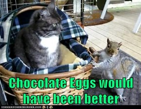 Chocolate Eggs would have been better