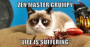 "ZEN MASTER GRUMPY  ""LIFE IS SUFFERING"""