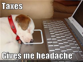 Taxes  Gives me headache