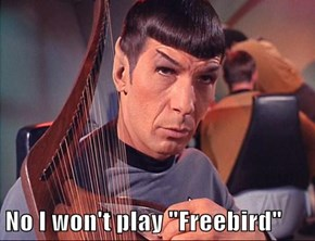 "No I won't play ""Freebird"""