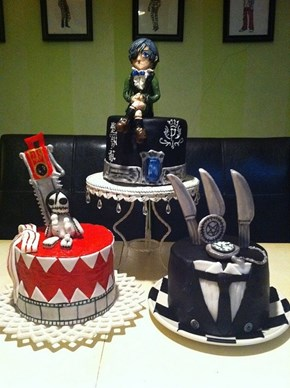 Beautiful Black Butler Cakes