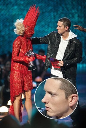 Eminem Can't Hide That WTF Face...