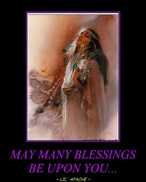 MAY MANY BLESSINGS BE UPON YOU...