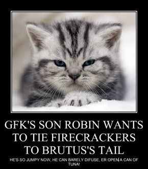 GFK'S SON ROBIN WANTS TO TIE FIRECRACKERS TO BRUTUS'S TAIL