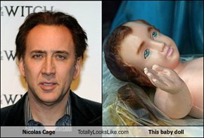 Nicolas Cage Totally Looks Like This baby doll