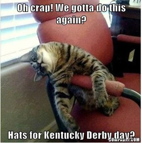 Oh crap! We gotta do this again?  Hats for Kentucky Derby day?