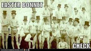 EASTER BONNET  CHECK