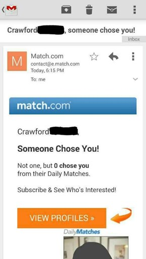 Match.com is Mean