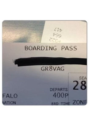 Your Boarding Pass Is Bragging