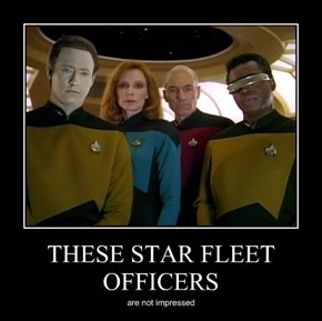 THESE STAR FLEET OFFICERS