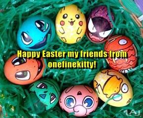 Happy Easter my friends from onefinekitty!