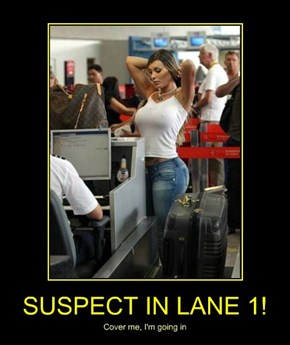SUSPECT IN LANE 1!