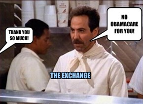 NO OBAMACARE FOR YOU!