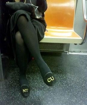 Shoes That Send a Message