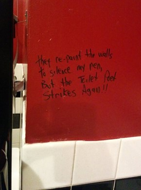 You Cannot Silence the Toilet Poet!