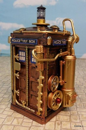Steam police box