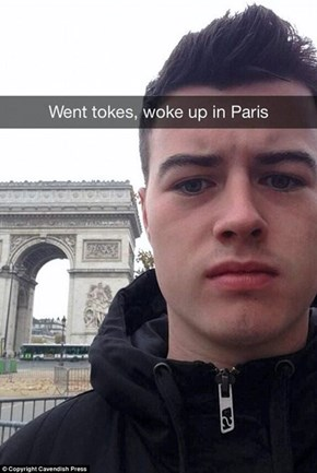 Kid Gets Drunk it Manchester...Wakes Up in Paris