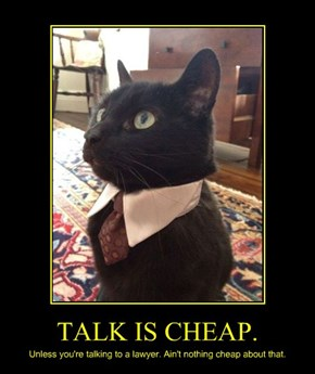 TALK IS CHEAP.