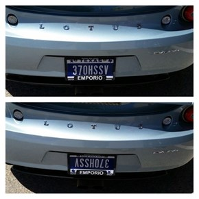 Nobody Will Suspect This Vanity License Plate