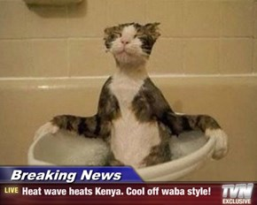 Breaking News - Heat wave heats Kenya. Cool off waba style!