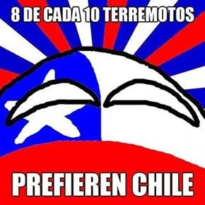 Chile pone a temblar la tierra