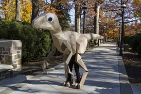 Witness the Stunning Realism of This Dinosaur Costume