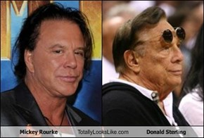 Mickey Rourke Totally Looks Like Donald Sterling