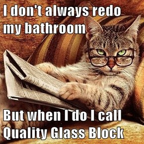 I don't always redo my bathroom  But when I do I call Quality Glass Block