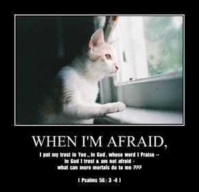 WHEN I'M AFRAID,