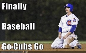 Finally Baseball Go Cubs Go