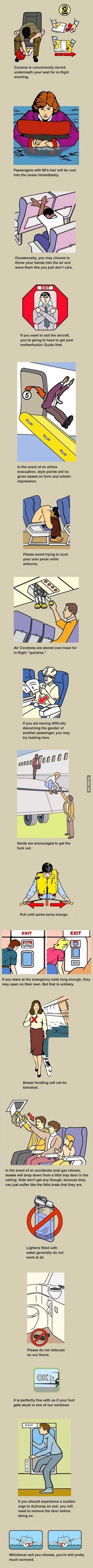 Airline safety instructions explained