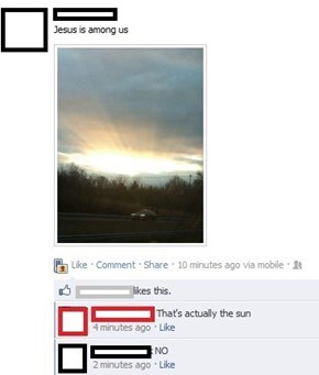 It's the Sun of God!