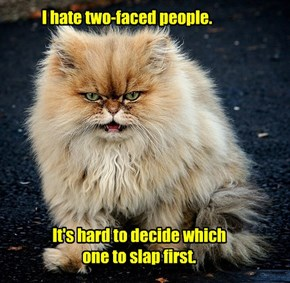 I hate two-faced people.