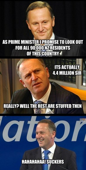John Key can't count