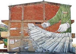 Another Insanely Cool Mural From Street Artist Blu