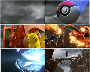 Charizard and Greninja Smash Bros. Action Shots