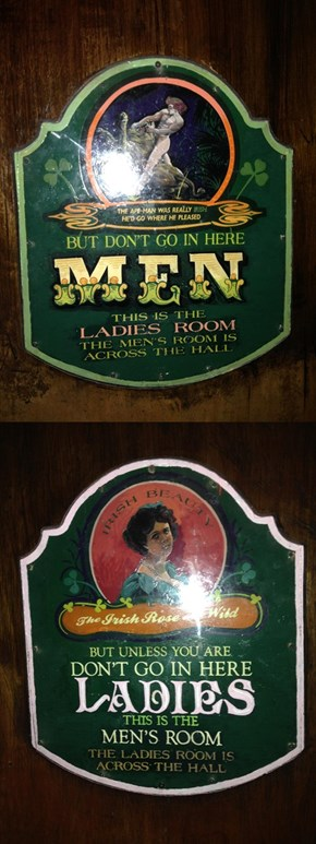 These Irish Pub Restroom Signs Are Confusing as Hell