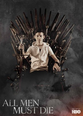 Me on The Iron Throne.