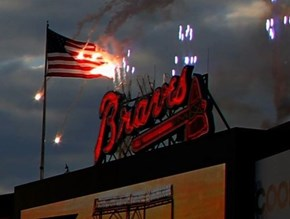 The Braves Had Some Pyrotechnic Malfunctions, but in an Amazingly Patriotic Way