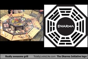 Really awesome grill Totally Looks Like The Dharma Initiative logo