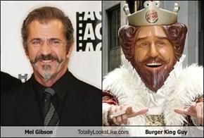 Mel Gibson Totally Looks Like Burger King Guy