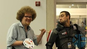 Shepard's N7 Armor Needs a Happy Stripe Right Here