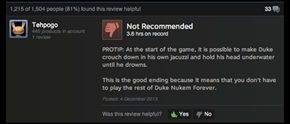 "Best ""Duke Nukem Forever"" Review"