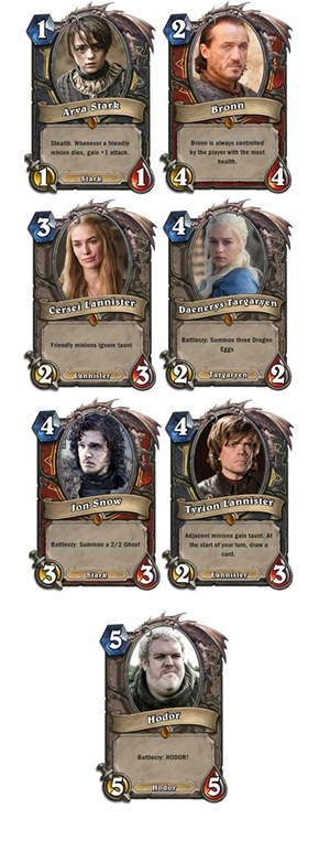 Game of Thrones x Hearthstone