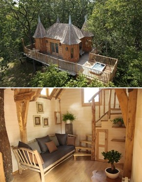 "At This Hotel in France, You Stay in a ""Tree Castle,"" Take THAT Treehouse!"